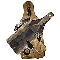 English Mastiffワイン&チーズセットガラスカッティングボード