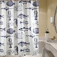 厚いシールドバスルーム掛けカーテンウォータープルーフとカビシャワーカーテン(カラーオプション付き) (色 : B)
