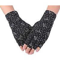 Flammi Women's Fingerless Sun Gloves Cotton Driving Gloves UV Protection