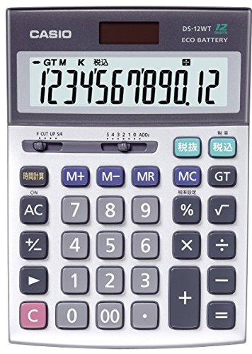 カシオ 本格実務電卓 デスクタイプ 12桁 DS-12WT-N