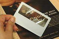カードルーペ【A】2個セット| 極薄型の拡大鏡で財布や定期入れに収納しておいても邪魔にならずいつでも携帯
