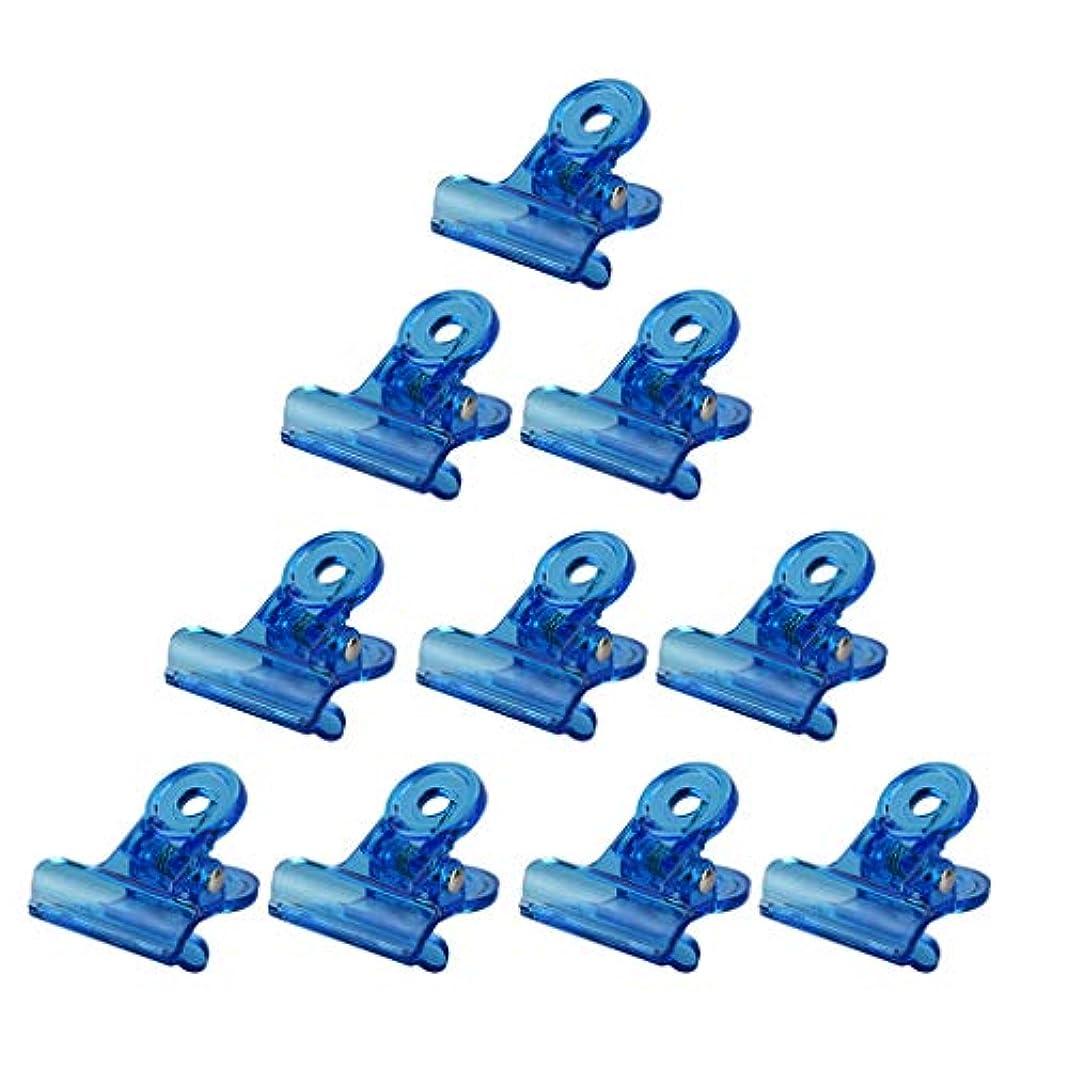 リンク数無意識ネイルアート マニキュア クリップ オフ アクリル リムーバークリップ 再利用可能な 全4色 - 青