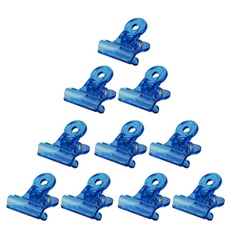 それ木柔らかさネイルアート マニキュア クリップ オフ アクリル リムーバークリップ 再利用可能な 全4色 - 青