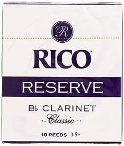 RICO リード レゼルヴ クラシック Bbクラリネット 強度:3.5+(10枚入) RCT10355