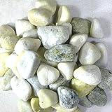 [砂利 玉砂利 30kg]お庭にぴったりとっても綺麗な黄緑化粧玉石pe04