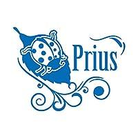 てんとう虫 Prius プリウス カッティング ステッカー ブルー 青