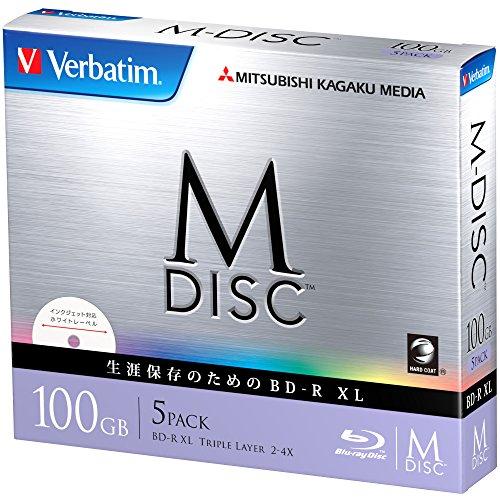 三菱ケミカルメディア M-DISC 1回記録用 BD-R XL DBR100YMDP5V1(片面3層/2-4倍速/5枚)