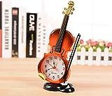 楽器 を デザイン した 時計 (バイオリン ウッド)