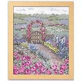 オノエ・メグミの物語からの花咲く風景 バラの花咲くピーターの庭