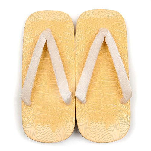 (キョウエツ) KYOETSU メンズ雪駄 サンド底 心地良い肌触りハイミロン鼻緒 スポンジ 25cm-30cm (L(27cm), 白)