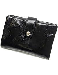 [バッジオ]BAZZIO 財布 イタリアンレザー製二つ折り財布 メンズ ブラック