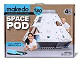 Makedo段ボールConstruction Space Pod–Ready To Build Construction Playset–Stem学習プロジェクト–Stands over 4ft Tall When Assembled–Includes 75再利用可能なMakedoツール