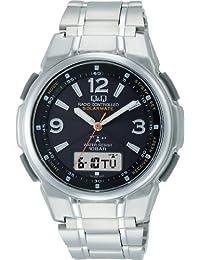 [シチズン キューアンドキュー]CITIZEN Q&Q 腕時計 SOLARMATE (ソーラーメイト) 電波ソーラー アナログ表示 クロノグラフ 10気圧防水 ブラック MCS5-205 メンズ