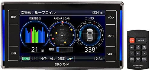 コムテック レーダー探知機 ZERO 701V 完全無料データ更新 移動式小型オービス&ゾーン30対応 OBD2接続 ドラレコ連携