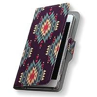 Xperia XZs 602SO ケース カバー 手帳 スマコレ 手帳型 レザー 手帳タイプ 革 スマホケース スマホカバー エクスペリア XZs 010226 Sony ソニー softbank ソフトバンク アジアン 模様 青 602so-010226-nb