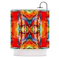 "KESS InHouse Matthias Hennig Motley Orange Yellow Shower Curtain, 69"" x 70"" [並行輸入品]"