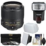Nikon 35mm f / 1.8g af-s Ed Nikkorレンズwith 3フィルタ+フラッシュ& 2吹き出し口+キットfor d3200、d3300、d5300, d5500、d7100、..