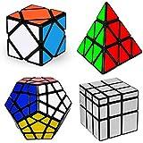 マジックキューブバンドル、2 x 2 3 x 3ピラミッドSkewbスピードキューブパズルTwisty Toys for Kids、と大人4パック
