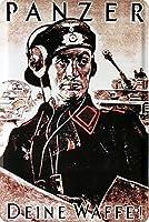 装甲兵士ドイツ帝国169錫レトロメタルウォールプラーク20 x 30