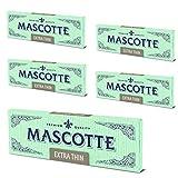 MASCOTTE(マスコット) エクストラ スローバーニング 手巻きタバコ用ペーパー 50枚入×5冊パック 7-65001-61