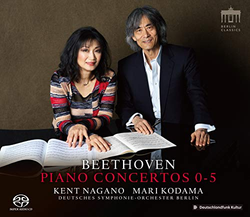 ルートヴィヒ・ヴァン・ベートーヴェン : ピアノ協奏曲全集 (Beethoven : Piano Concertos 0-5/Kent Nagano | Mari Kodama | Deutsches Symphonie Orchester Berlin) [4SACD Hybrid] [国内プレス] [限定盤] [日本語帯・解説付]