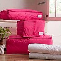 Demiawaking 衣類収納袋 布団収納袋 ストレージバッグ ポリエステル ダブルファスナー 通気性 防塵性 防湿性 持ち手付
