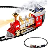 Classic Train Set for Kids with Smoke, Realistic Sounds, 3 Cars and 11 Feet of Tracks (13 pcs) by Double Coin [並行輸入品]