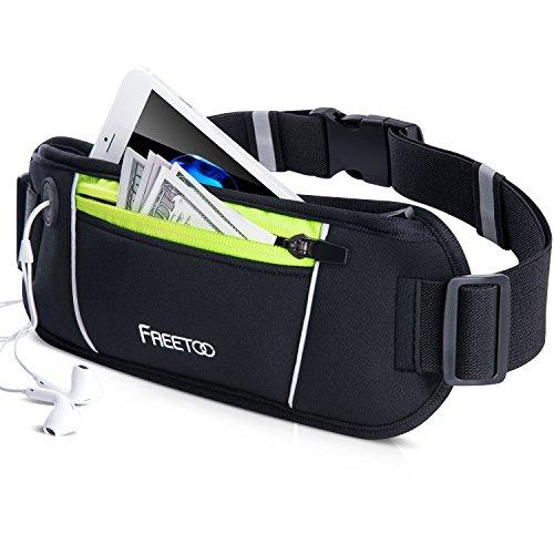 FREETOO ランニング&サイクリング用 ベルト ランニングポーチ ランニング バッグ スポーツ用 ウエストバッグ 通気性 軽量 iPhone 7 Plus/6S Plus Sony Galaxy 5.5インチまでのスマホに対応 登山 旅行 夜間ジョギングポーチ