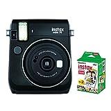 【フィルム20枚セット】FUJIFILM インスタントカメラ instax mini 70 (ブラック)