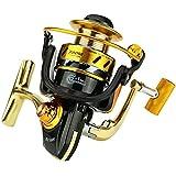 釣り用リール 釣りリール12 + 1ベアリング左右交換可能なハンドル、海水用淡水ギア比5.5:1、ダブルドラッグブレーキシステム付き (サイズ : 4000)