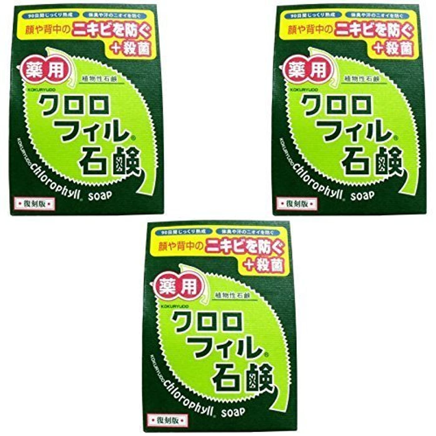 推進、動かす原理急ぐ【まとめ買い】クロロフィル石鹸 復刻版 85g (医薬部外品)【×3個】