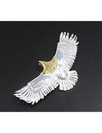 「silverKYASYA」シルバー925素材 頭金イーグル 70mm ネイティブ王道 イーグルペンダント フェザーネックレストップ
