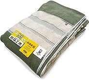 高級厚地 ふわふわ今治タオルケット シングルサイズ 140×200cm グリーン色 綿100% 360匁 日本タオル検査協會合格品 日本製