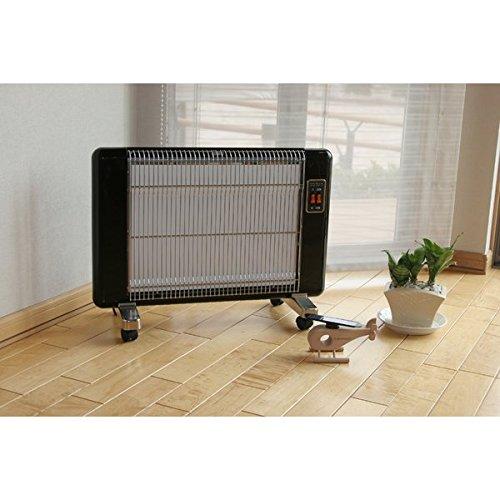 家電用品 電化製品 遠赤外線輻射式セラミックヒーター 600W型 ブラック...