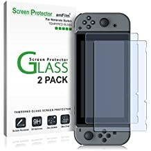 amFilm Nintendo Switch Screen Protector (2 Pack), Premium Tempered Glass Screen Protector for Nintendo Switch (2017)