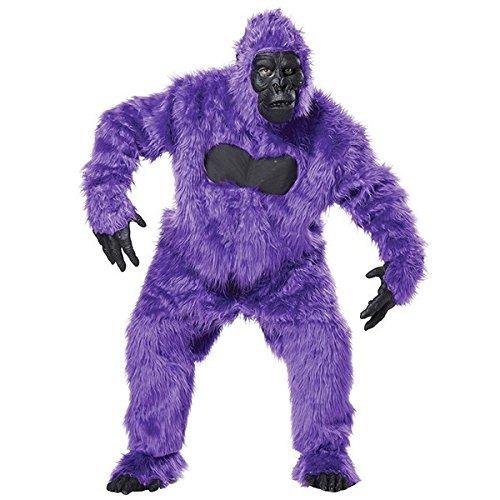 着ぐるみ 動物 ゴリラ 大人用 おしゃれ パープルゴリラ コスチューム コスプレ 衣装 ハロウィン パーティー 猿 かわいい 紫 もふもふ [並行輸入品]