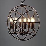 "Industrial Vintage Retro Pendant Light - MAYERHK 21"" Edison Metal Globe Shade Hanging Ceiling Light Chandelier Pendant Lamp L"