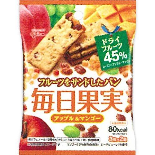 江崎グリコ 毎日果実 アップル&マンゴー 6枚入