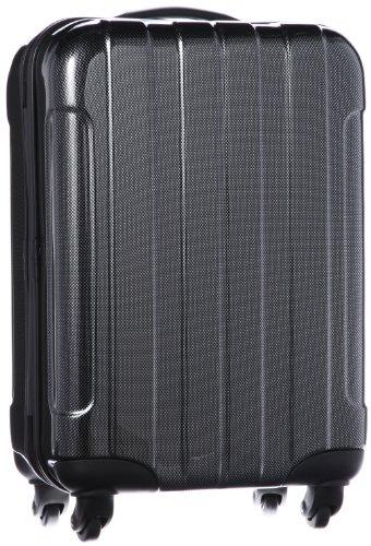 [シフレ] siffler ESCAPE'S ジッパ-タイプ スーツケース 46cmのみ機内持ち込み可能(100席以上) B5853T-46 カーボンブラック (カーボンブラック)