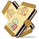 GS03 ケース 手帳型 巳年 茶 十二支 ヘビ 手帳 カバー ジーエス GS 03ケース GS 03カバー 手帳型ケース 手帳型カバー 動物 アニマル [巳年 茶/t0166]