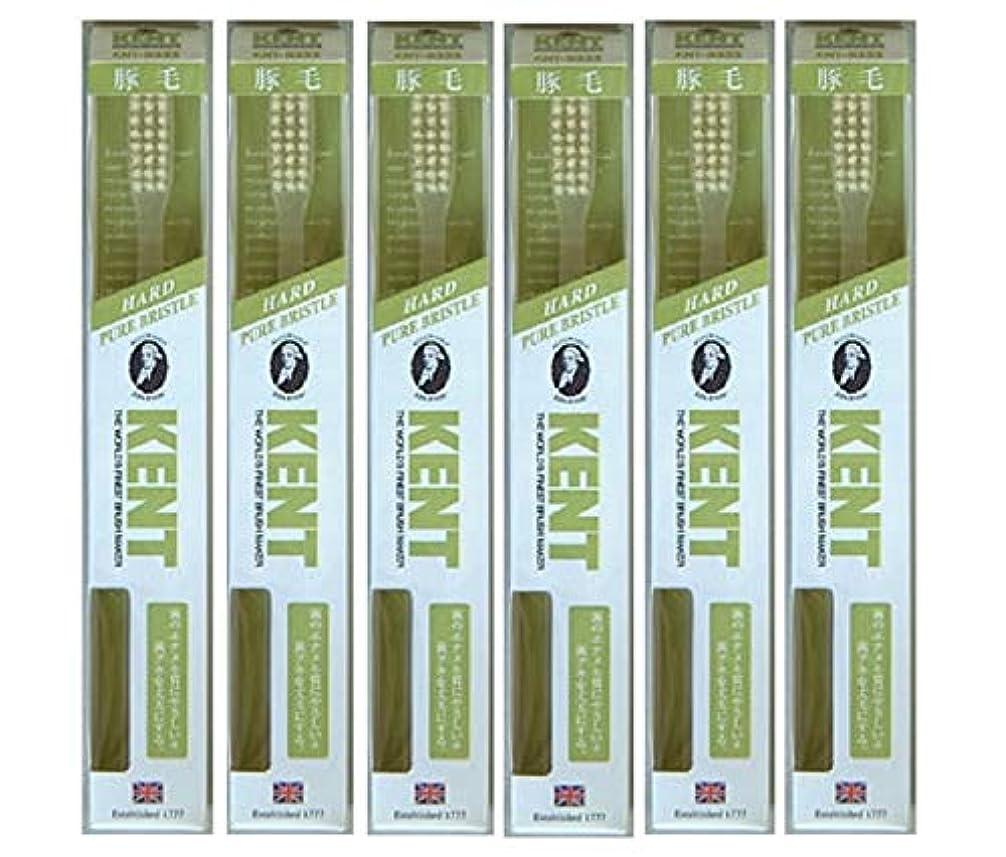 テストとげのあるマッシュ【6本セット】KENT 豚毛歯ブラシ KNT-9333 ラージヘッド かため