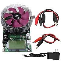 バッテリー容量測定用のインテリジェントファンを備えたUSB LCDスクリーン調整可能な定電流電子負荷テスターモジュール150W 200V 20A