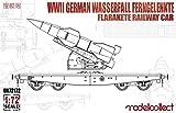 モデルコレクト 1/72 ドイツ軍 平貨車 w/ヴァッサーファル 遠隔操縦式地対空ロケット プラモデル MODUA72172