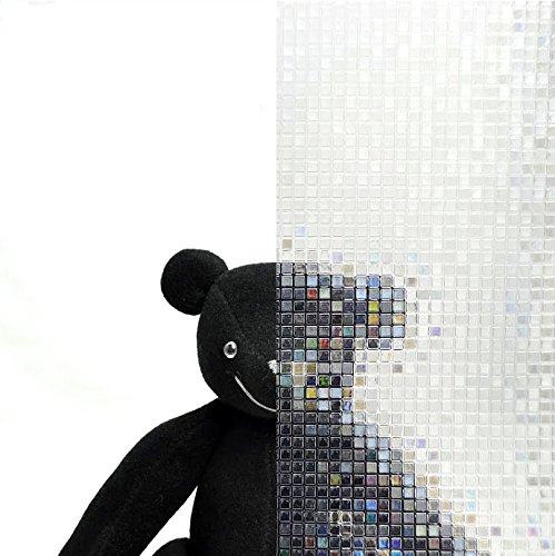 SANGETSU サンゲツ ガラスフィルム エンボス インテリア デザイン 装飾 目隠し 半透明 サンゲツ レインボー モザイクタイル柄 飛散防止 (長さ1m単位) 型番: GF-526 01M