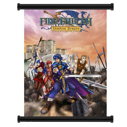 Fire Emblemゲームファブリック壁スクロールポスター...