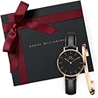 Gift Set Classic Petite Sheffield Black Watch  28mm+ Cuff RG Small