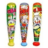 【ビニール玩具】うまい棒 バットLサイズ (3種アソート12個入り)  / お楽しみグッズ(紙風船)付きセット