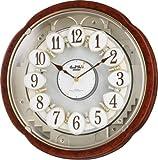 リズム時計 電波からくり掛け時計 スモールワールドコンベルS 4MN480RH23