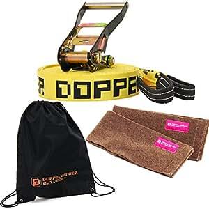 DOPPELGANGER(ドッペルギャンガー) アウトドア バランスウォーカー 15m DBW01 【ツリーウェア2枚/キャリーバッグ付属】