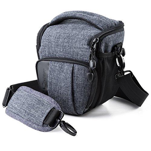 カメラバッグ ショルダー K&F Concept カメラバッグ 一眼レフ おしゃれ カメラバック 防水 カメラショルダーバッグ アウトドア 軽量 コンパクト グレー Canon Nikon Sony Sigma Tamronなどデジタル一眼レフカメラ用バッグ 多機能 Sサイズ